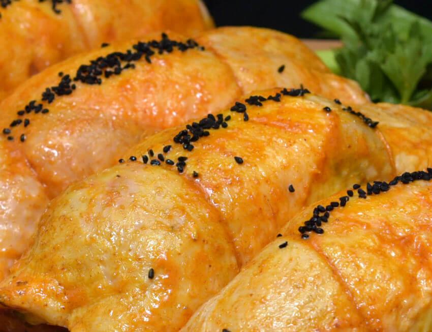 ρολάκι μπούτι κοτόπουλο γεμιστό